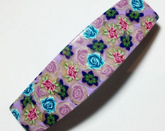 Hair Barrette, French barrette, polymer clay quality Barrette, made in france Barrette, Hair Clip Barrette,FREE SHIPPING