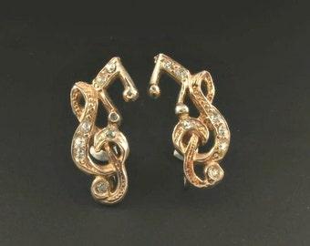 Music Clef Earrings, Music Note Earrings, Musicians Earrings, Music Themed Earrings