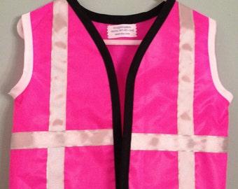 hot pink construction worker vest