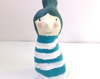 mini blue ligthhouse girl