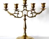 Vintage Brass Candelabra Candelabrum Candleholder Home Decor