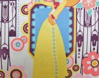 Ranchera Tea Western Retro Cowgirl Senorita Alexander Henry Fabric
