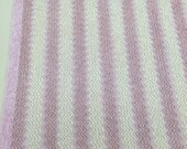"""Soft Rosey Lavender and Ivory Zig Zag Vintage Chenille Piece 30""""x22"""""""