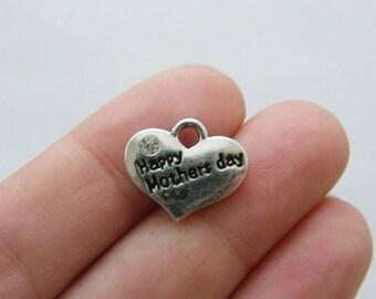 BULK 20 Happy Mothers day pendants antique silver tone M395  - SALE 50% OFF
