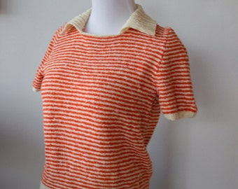 Vintage Dreamsicle Acrylic Sweater Shirt