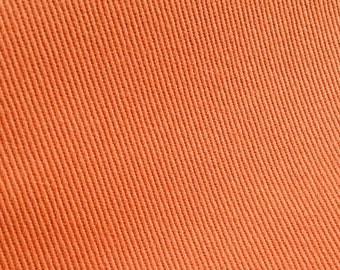 CORAL orange BRUSHED TWILL weave solid upholstery fabric, 02-29-10-1012