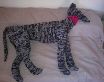 Lifesize Greyhound download knitting pattern