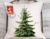 Christmas Pillow Cover Vintage Christmas Tree