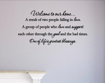 Welcome to our home... - Home Wall Decor Stickers #2033