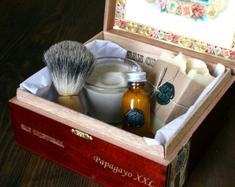 DELUXE - Eco Friendly Shaving Kit with Beer Shaving Soap