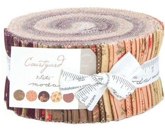 "Courtyard Jelly Roll by 3 Sisters for Moda Fabrics 44120JR 40 2.5"" x 42"" Fabric Strips"