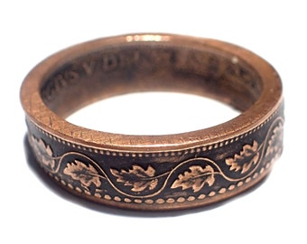 CANADIAN LEAF One cent RING! Made from a genuine Vintage coin! pick your size Coin Ring