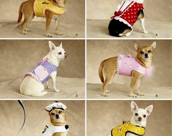 Dinky Dog Harness Vest Pattern, Sz 1 1/2 to 8 lbs, Simplicity Sewing Pattern 2393