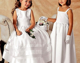 Flower Girl Dress Pattern, Little Girls' Confirmation Dress Pattern, Butterick Sewing Pattern 3351