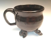 Large Dancing Cauldron Mug in Midnight Black