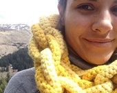 Hoop-la Scarf in Mellow Yellow - Custom Order for JANICE