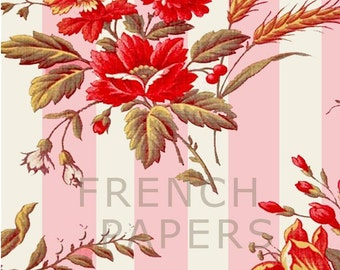 Romantic French Floral fabric patterns and wallpapers for gift wrapping, ACEOs, scrapbooking, gift bags