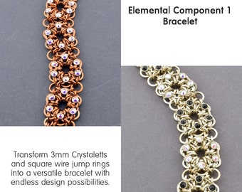 Tutorial Elemental Component 1 Chainmaille with Crystaletts