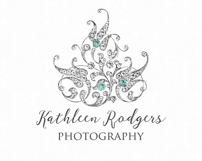 Premade Diamond Brooch Logo