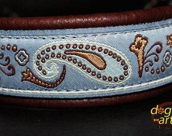 "Dog Collar ""Paisley Perfection"" by dogs-art, leather dog collar, martingale collar, hundehalsband, slip dog collar, chain dog collar, collar"