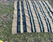30s-1940  vintage   heavy wool  camp blanket, unknown maker.good condition