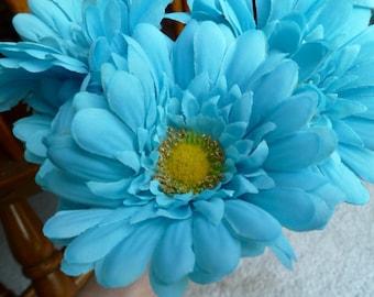 Flower Pens Set of 30 Turquoise Aqua Blue Gerber Daisies Aqua Bridal Shower Wedding Party Favors Small Gifts Souvenir