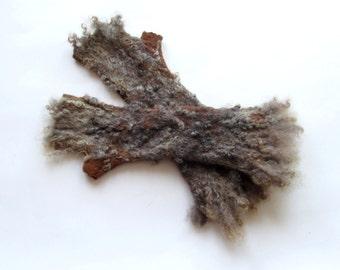 Felt fingerless gloves Hand Felted Mittens, Brown  gloves, Brown wool mittens, Cozy winter Gloves, wool arm warmer