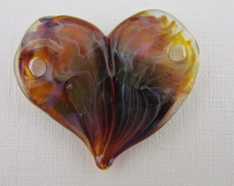 Handmade Boro Glass heart Pendant