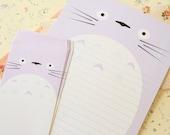 Lilac Totoro cartoon writing paper & envelopes set
