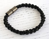Jacob Bracelet | Men's Collection | Braided Rubber Minimal Bracelet | Modern Design | Geometric Style | Hand Made | Gift For Him