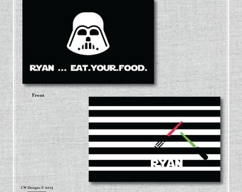 Star Wars Placemat {11x17 Double sided}