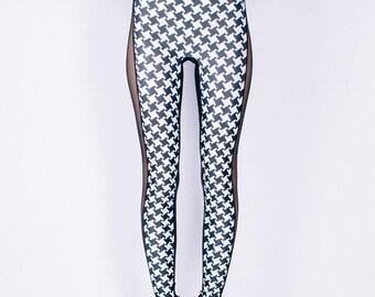CELINE Leggings in HOUNDSTOOTH Digital Print