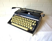 RSVD for g6120sltv (layaway) - Vintage Blue Adler J5 Manual Typewriter - Dora - Professionally Serviced