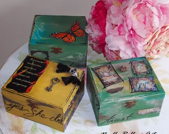 Dream box wish box miracle box choice of designs embellishments for miracles dreams and wishes goals and setting intention dream board