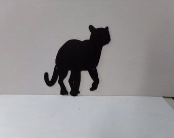 Cougar 004 Small Wildlife Metal Wall Art Silhouette