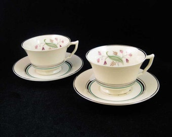 "Syracuse ""Coralbel"" Tea Cups & Saucers(4 pcs)"