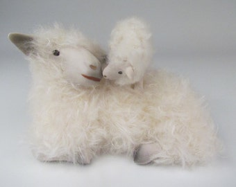Handcrafted Cotswold Sheep and Lamb - Are You My Mother