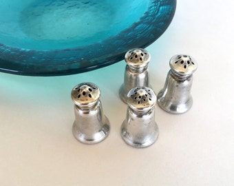Antique Birmingham Sterling Silver Salt and Pepper Shakers 1800s