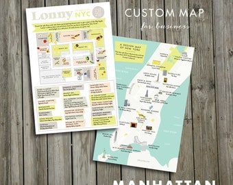 Custom Map for business , JPress Designs, wedding, travel, guest guide,  moving announcement, custom map, illustration, custom design, map