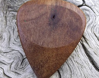 Wood Guitar Pick - Premium Quality - Handmade With Rustic California Eucalyptus - Actual Pick Shown - Engraved Both Sides