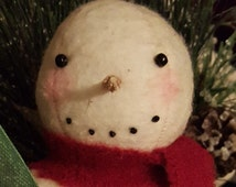 Primitive Handmade Snowman ~~ Primitive Christmas ~~ Primitive Winter ~~ Primitive Home Decor ~~ Yule ~~ CIJ ~~ FAAP ~~ OFG Team ~~