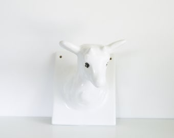 Vintage ceramic lamb wall hanging