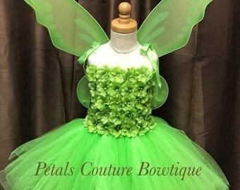 Tinker Bell Tutu Costume, Didney Tinker Bell Inspired Costume, Tinker Bell Costume, Theme Weadding Flower Girl Dress, Flower Girl Dress