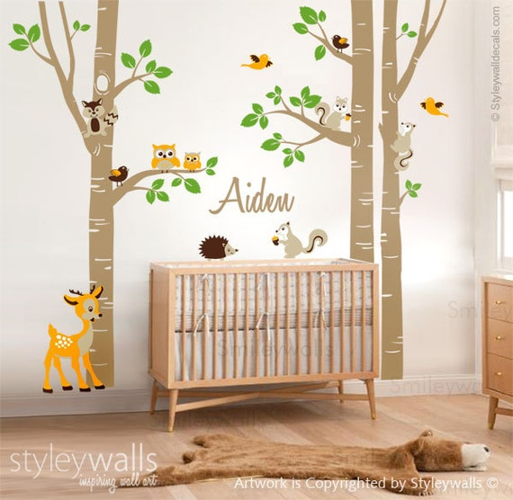 Wall Art Design Etsy Coupon Code : Off coupon on birch trees sticker wall