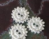 SALE Mykonos   Silver Buttons - 20mm 2 Hole Button - Jewelry Making Supply - Wrap Bracelet Supplies - Choose Amount