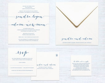 Printed Wedding Invitation Set – Hitched – Australia