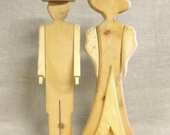 Wooden Parts , Wooden Man and Woman , Craft Supplies , Art Supplies , Wedding, Couple , DIY , Kit , Folk Art , Man and Woman , Wood Cutouts