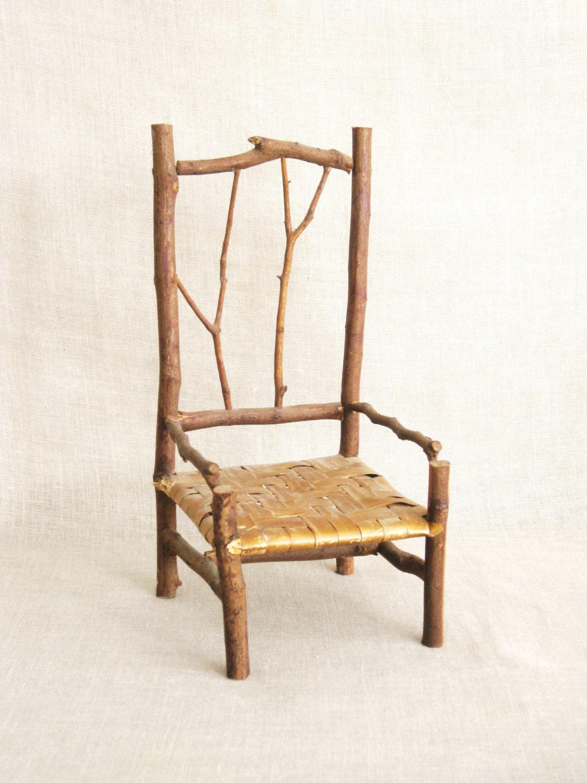 Doll Chair Miniature Chairs Twig Chair Handmade Rustic