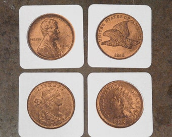 Penny -  Screenprint Coasters