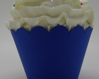 Royal Blue Cupcake Wrappers...Fully Assembled